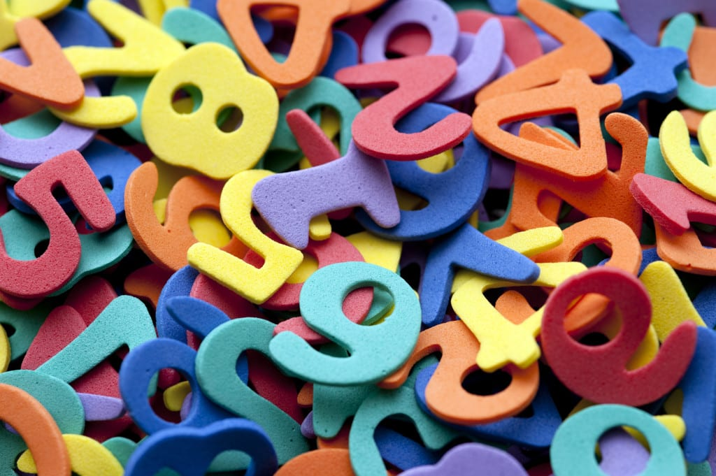 Background collection of colourful preschool numbers for your schooling, learning, teaching or education concept
